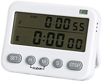 JHEY Dual Screen Timer Electronic Digital Kitchen Stopwatch Memory Function Loud Buzzer Clear product image