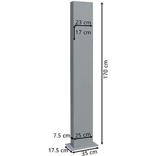 V2Aox Briefkasten Standfuß Briefkastenständer Ständfüße Ständer Freistehend Breit Schwarz - 3