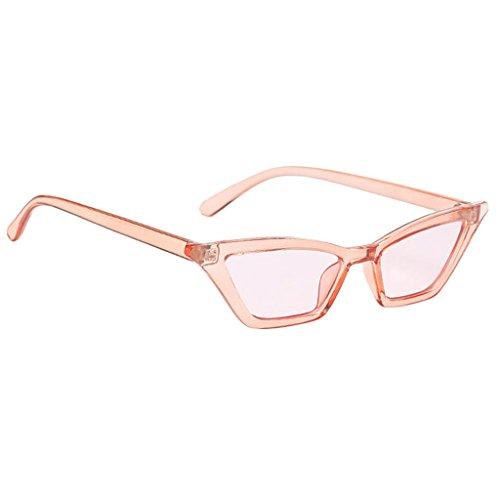 Sharplace Modische Cateye Sonnenbrille Vintage Verspiegelt Katzenauge Brille Gläser Dekobrille - Rosa, wie beschrieben