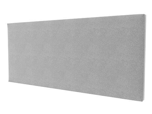 LA WEB DEL COLCHON - Cabecero tapizado Paros para Cama de 160 (170 x 70 cms) Gris Claro Textil Suave | Cama Juvenil | Cama Matrimonio | Cabezal Cama |
