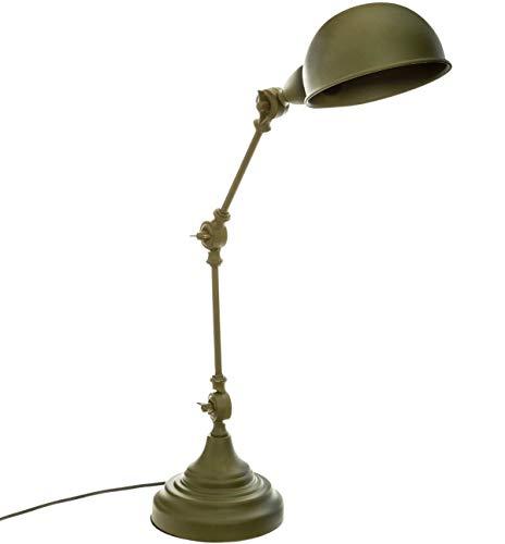 PEGANE Lampe de Bureau en métal Couleur Vert Kaki - L.32 x l.15 x H.55 cm