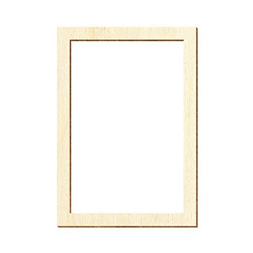 Holz Fenster eckig - Deko Modellbau Größenauswahl, Fenster:Modell 1, Größe:60 x 42mm