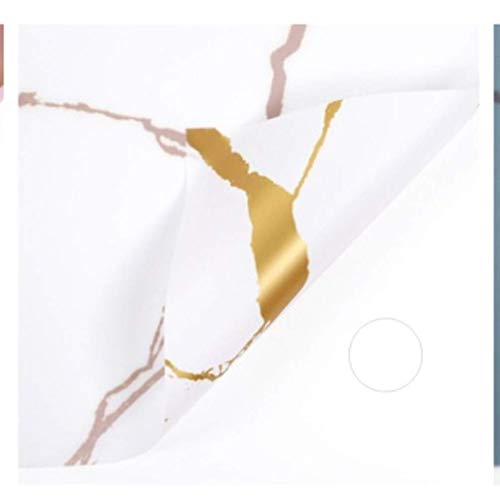 RRTYA Papel de embalaje de flores con textura de mármol dorado, para manualidades, álbum de recortes, caja de regalo de boda, caja de regalo impermeable, papel origami (blanco 60 x 60 cm)