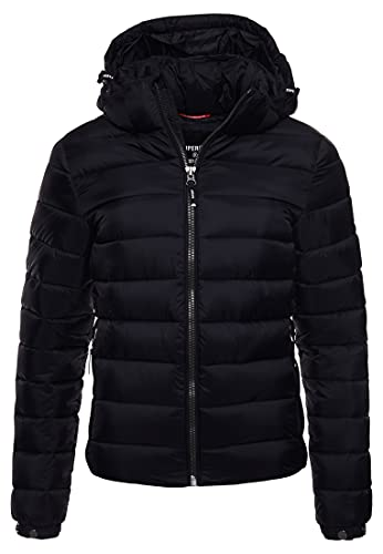 Superdry Classic Fuji Puffer Jacket Veste, Noir, S Femme