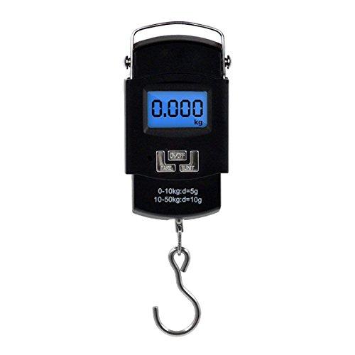 Eidyer 10g ~ 50kg Bilancino Digitale Bilancia per bagagli Elettronico, da pesca con gancio postale, Bilancia da viaggio digitale portatile Valigia Bilancia con display LCD per viaggi