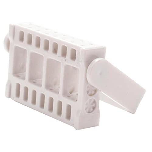 Porte-ongles Touche de manucure Touche de manucure Dossier de meulage Tête de rectification Porte-bouchon de 16 trous Porte-cylindre à ongles - Blanc