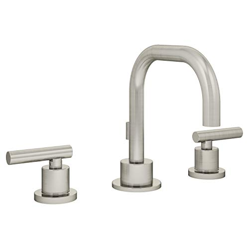 Symmons SLW-3512-STN-1.0 Dia Widespread 2-Handle Bathroom Faucet with Drain Assembly in Satin Nickel (1.0 GPM)