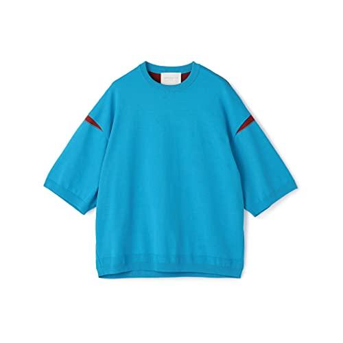 [トゥモローランド] コットン クルーネック 半袖 ニット メンズ S 65 ブルー