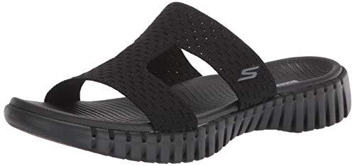 Skechers Go Walk Smart-140054 Slide Sandale für Damen, Schwarz (schwarz), 37 EU