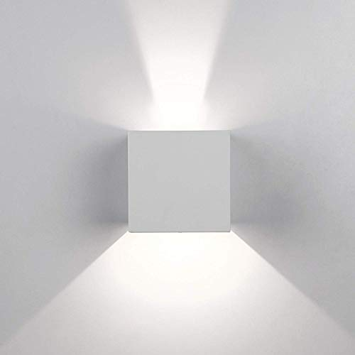 Topmo-plus pivotante Focos pared escalera Luz pared curso Bañadores de pared volvible apliques pared / 12W LED bridgelux COB / 1320LM aluminio Arriba y Abajo Diseño blanco natural 10CM