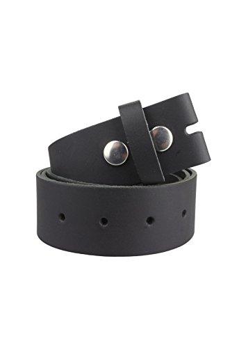 Echt Leder Wechselgürtel | Gürtel für Gürtelschnalle / Buckle in schwarz | Bundweite 110