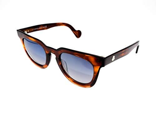 Moncler Unisex-Erwachsene ML0008 45C 48 Sonnenbrille, Braun (Marrone Chiaro Luc/Fumo Specchiato)