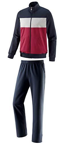Michaelax-Fashion-Trade Schneider - Herren Sport und Freizeit-Anzug aus Elastosoft, BLAIRM (1113), Größe:27, Farbe:Redwine/Dunkelblau (3151)