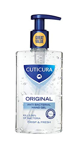 Cuticura Original Anti Bacterial Hand Gel Crisp and Fresh, 250ml (Pack of 4) [PACKAGING MAY VARY]