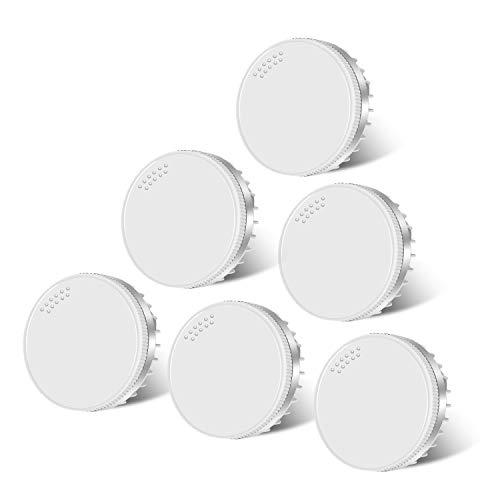 (6er Paket) 8W GX53 LED Lampe, Hakkatronics 8W GX53 Leuchtmittel, 4000K Natürweiß, CRI 85, 750lm(75w Halogenlampen Entsprechen)GX53 LED Glühlampe in Küche, im Flur, Treppenhaus eingebaut werden können