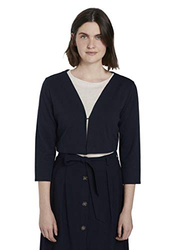 TOM TAILOR Damen Bolero (Jacke) T-Shirt, 10668-Sky Captain Blue, XL