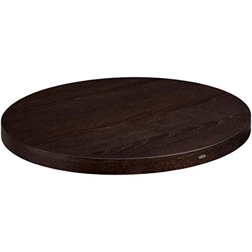 Tischplatte Sumba 80cm, 80 cm (Ø), esche nussbaum gebeizt, rund