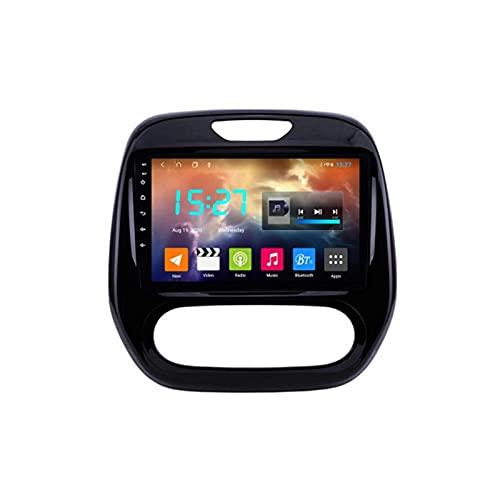 Radio de Audio Estéreo para Coche con Bluetooth de Doble Din con Navegación GPS Wifi Soporte de Pantalla Táctil de 9 '' Enlace Espejo/Control del Volante / 4G, para Renault Captur Clio 2014-2018