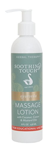 Soothing Touch Ayurveda Education Massage Lotion, Unscented, 8 Ounce