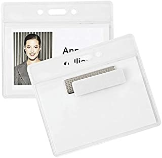 Office Depot Magnet Badge Holders, 3 1/2in. x 2 3/8in, Clear, Pack of 4, XS002003