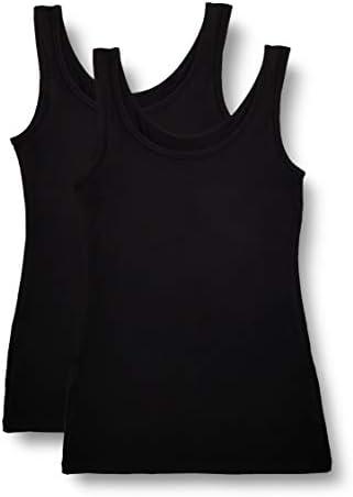 Marca Amazon - IRIS & LILLY Camiseta Interior Térmica Ligera de Tirantes para Mujer, Pack de 2
