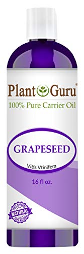 Grapeseed Oil 16 oz. Cold Pressed 100% Pure Natural Carrier - Skin, Body And Hair Moisturizer. Works For Massage, Aromatherapy, & More!