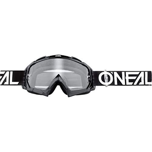 O'NEAL | Fahrrad- & Motocross-Brille | MX MTB DH FR Downhill Freeride | Hochwertige 1,2 mm-3D-Linse für ultimative Klarheit, UV-Schutz | B-10 Goggle | Erwachsene Unisex | Schwarz Grau | One Size