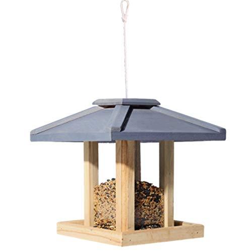 Wyaenghai vogelvoerer, buitenterras, weerbestendig, groot kwaliteitsvogelhuisje, multifunctioneel, houten vogelhuisje