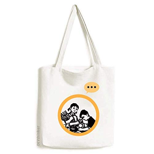 Boy Girl Wheat Microscope Patriotism Expression Gift Sack Canvas Tote Shoulder Bag