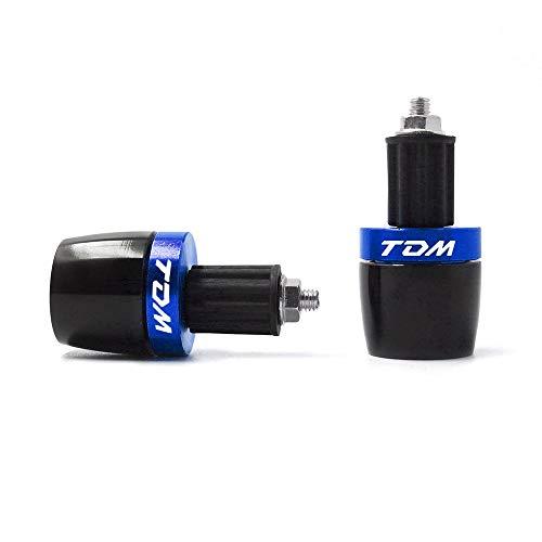 """LIWENCUI- Motorrad 7/8""""22mm Griffleiste Lenker Handgriffe Enden Cap Plug Slider for Yamaha TDM 850 900 900A (Color : Blue)"""