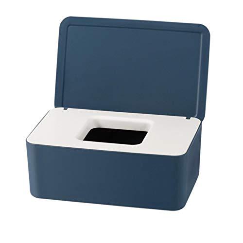 QEWRT Caja de pañuelos con Tapa Dispensador de toallitas para bebés Bolsa para servilleta Caja de Almacenamiento de toallitas húmedas para el automóvil doméstico