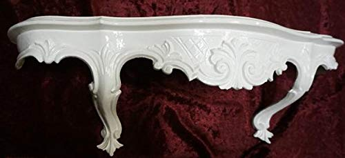 Artissimo wandplank, wit, barok, antiek, commode, spiegelplank