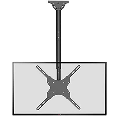 TV Ceiling Mount Adjustable Bracket Fits Most LED, LCD, OLED and Plasma Flat Screen Display 26 to 65 Inch, up to 110 Lbs, VESA 400x400mm (CM2665), Black by WALI