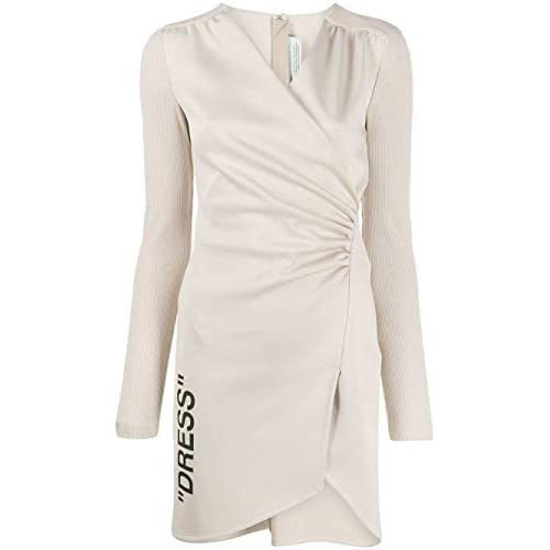 OFF-WHITE Luxury Fashion Donna OWDB176F19F850894810 Beige Poliestere Vestito | Stagione Outlet