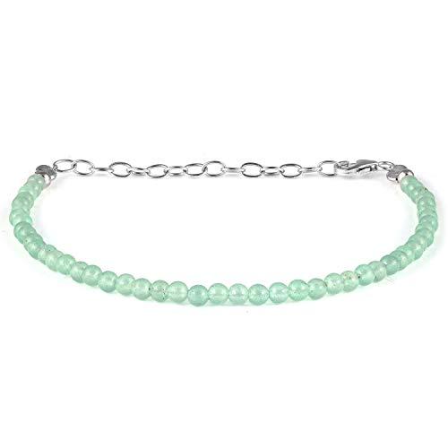 Braccialetto da donna, verde avventurina braccialetto, verde tallone braccialetto, avventurina naturale braccialetto, verde avventurina gioielli