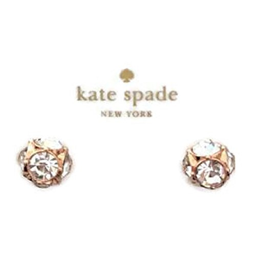 Kate Spade Lady Marmalade Rose Gold Stud Crystal Earrings