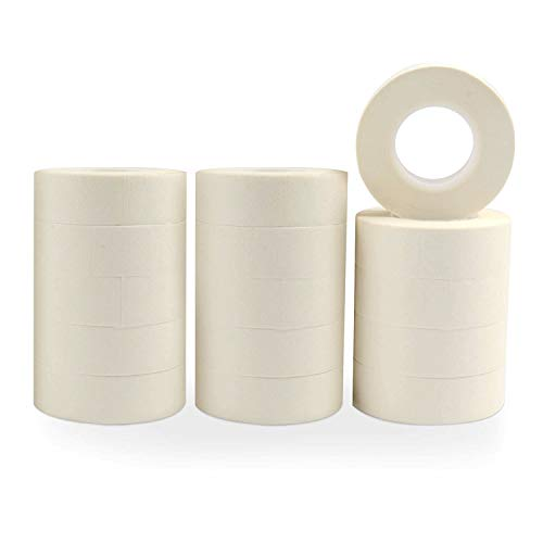 HappyHapi White Masking Tape 1 inch, 15 Rolls Masking Tape for Packing, Labeling,Drafting and Craft,White Painters� Tape for Art &Craft