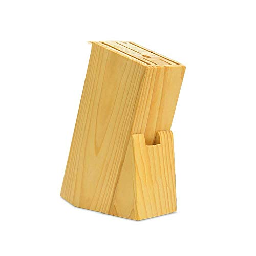 Environmentally Pine Wood Knife Holder with 7 Knife Slots, Universal Knife Storage without Knives Kitchen Fixed 1104