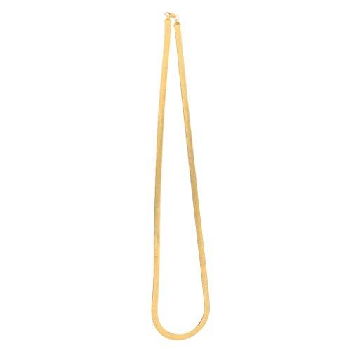 Hellery Cadena de Serpiente Clásica Collar de Joyería Dorada de 9 Tamaños con Cierre Regalo para Amigos de La Familia Rocker Colegas - Dorado 7mm-76cm