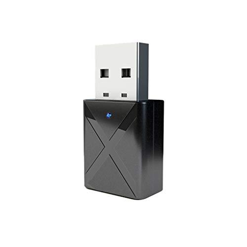 Yujum Bluetooth USB 5.0 Transmisor Receptor de TV Altavoz del Auricular de 3.5mm Mini AUX estéreo Adaptador inalámbrico
