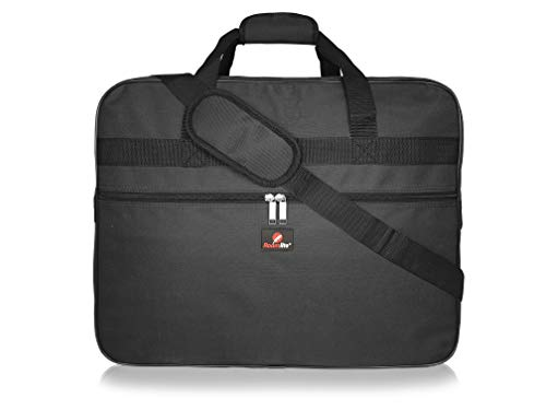 Roamlite Hand Luggage Holdall - Exact Size Ryan-air and Easy-Jet Carry-On Bags - Travel Duffle - 55 cm x40cm x20cm 40 Litre - RL56K Black