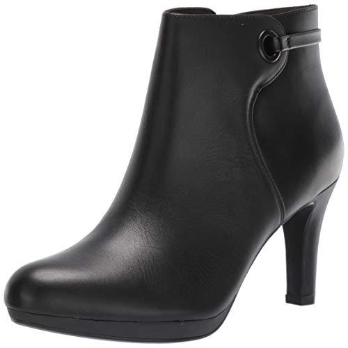 Clarks Damen Adriel Mae modischer Stiefel, schwarzes Leder, 42 EU