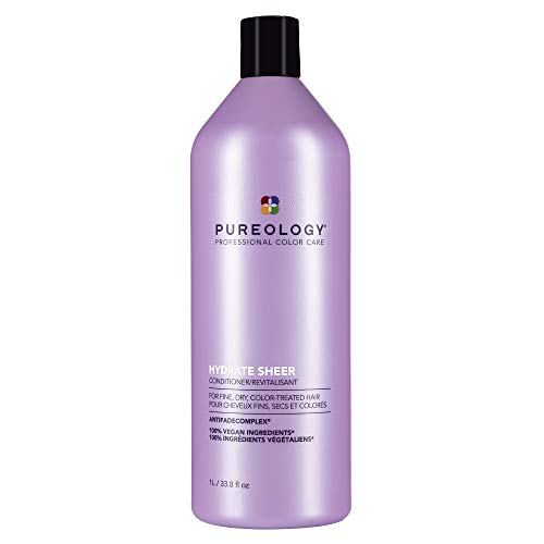 Pureology Hydrate Sheer Lightweight Hydrating Conditioner For Fine, Dry & Color-Treated Hair, 33.8 Fl Oz