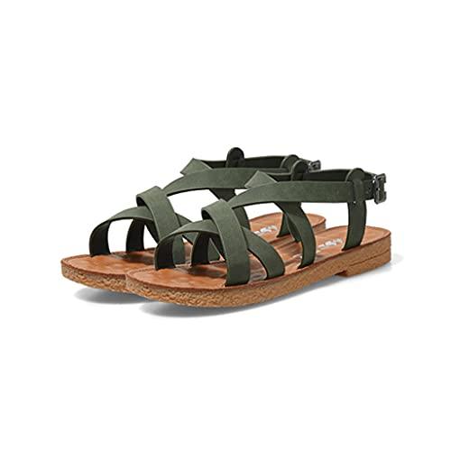 HOUFT Sandalias de Suela Blanda para Mujer para el Verano, Zapatos de Viaje cómodos, súper Suaves, de Fondo Plano, con Suela de Goma Antideslizante para Interiores y Exteriores Zapatos Informales