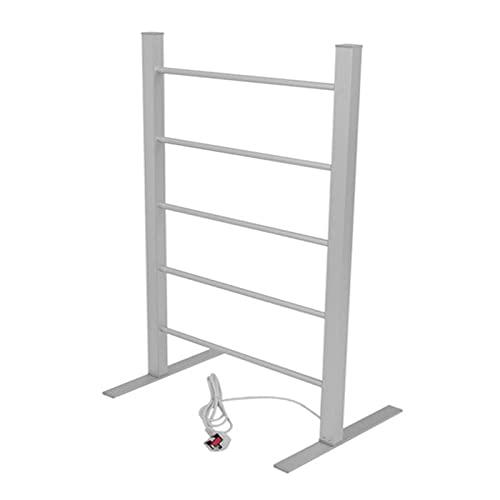 GJXJY Toallero Escalera De Baño Riel De Toalla con Calefacción Eléctrica Estante De Toalla De Aluminio, bajo Consumo de 100 W, Temperatura Constante para el hogar, 58x39x105cm