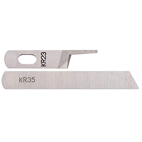Blade 118460 y 118456 Silver Arrow Overlock Máquina Máquina de coser Overlock de tres o cuatro hilos Accesorios para máquinas de coser con cuchilla superior e inferior universal