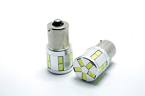 2X LED Bombillas DIURNAS Dia DRL BA15S P21W Leon 3 III MK3 SC 5F Ibiza IV 4 6J 6P SIN Error Blanco 6000K