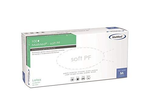 eeddoo® Latex-Handschuhe unsteril & puderfrei in Weiß - Maimed Soft pf - 100 Stück (M)