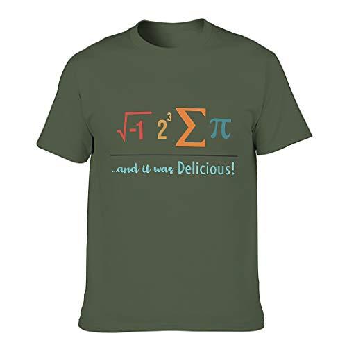 Herren Baumwoll-T-Shirt I Ate Some Pie elastisch Rundhalsausschnitt - kurzes Hemd für Radfahren Army Green m