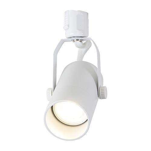 Dotoy ダクトレール用 スポットライト E11口金 白 ダクトレール LED電球 E11 60W形相当 電球色 6W 600lm ライティングバー用照明器具 LED電球+器具セット ledスポットライト付き 天井照明 人気 (白 + 電球色)